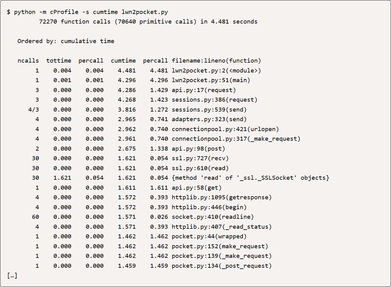 Profiling Python Code